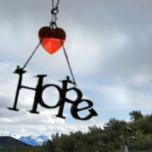 'Hope dangles on a string, like slow spinning redemption'